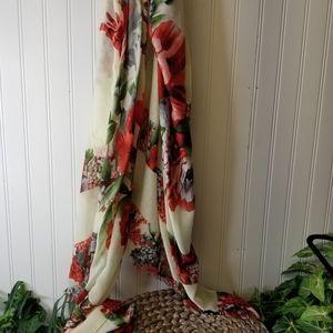 Women's Long Floral Scarf/Wrap